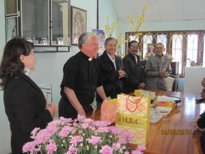 BCV thăm chúc tết Cha LUY Vinh