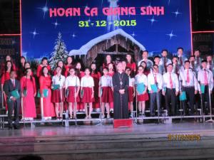 Hoan Ca Giáng Sinh 2015 tại Qui Nhơn. GX Võ Lâm và Đăk Dzách